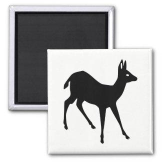Deer Silhouette Square Magnet