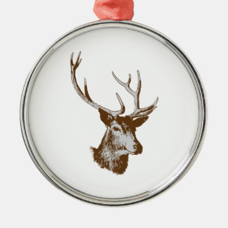 Deer Silver-Colored Round Ornament