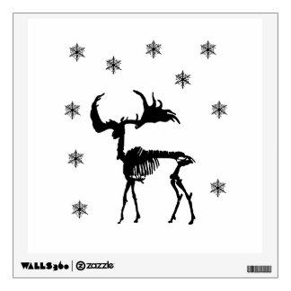 Deer Skeleton and snowflakes Wall Sticker