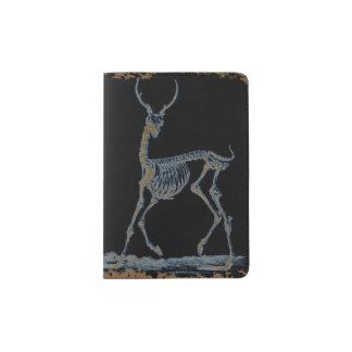 Deer Skeleton Negative Passport Holder
