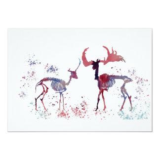 Deer skeletons card
