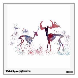 Deer skeletons wall decal