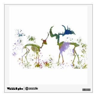 Deer Skeletons Wall Sticker