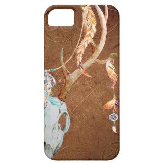 Deer Skull Antlers Native American Southwest brown iPhone 5 Covers