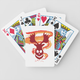 Deer Skull Bicycle Playing Cards