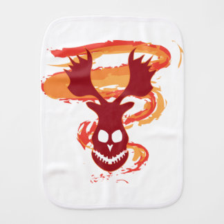 Deer Skull Burp Cloth