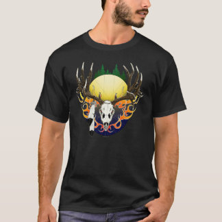 Deer skull in flames T-Shirt