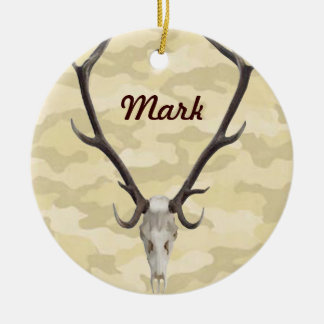 Deer Skull Name Ornament