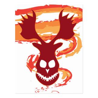 Deer Skull Postcard