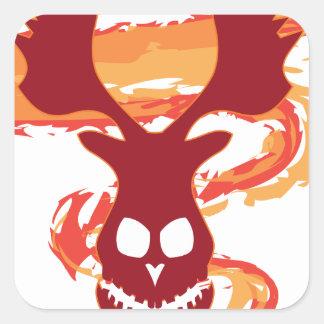 Deer Skull Square Sticker
