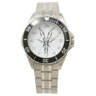 Deer Skull Tribal Tattoo - black and white Watch