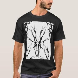 Deer Skull Tribal Tattoo Digital Collage T-Shirt