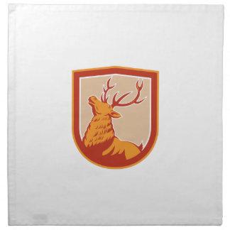 Deer Stag Buck Head Looking Up Retro Cloth Napkins