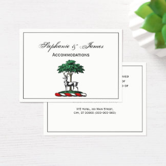 Deer Stag by Tree Heraldic Crest Emblem Business Card
