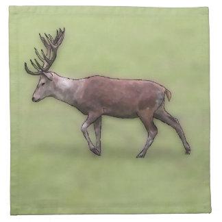 Deer Stag Digital Art Napkins
