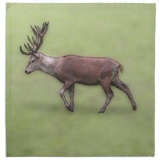 Deer Stag Digital Art Printed Napkin