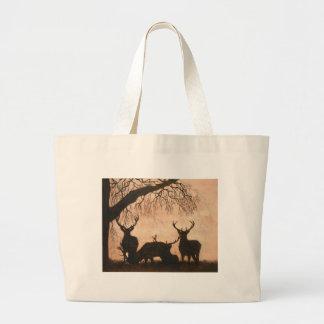 Deer Stags Jumbo Tote Bag