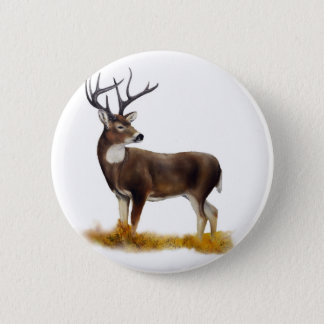 Deer standing alone on customizable products 2 inch round button
