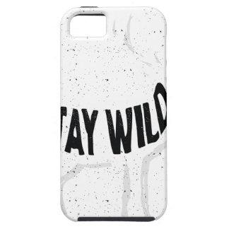 Deer - Stay wild iPhone 5 Case