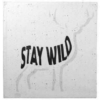 Deer - Stay wild Napkin