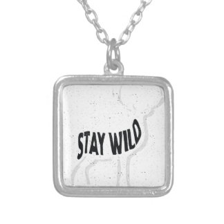 Deer - Stay wild Silver Plated Necklace