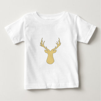 Deer - strips - beige and white. baby T-Shirt