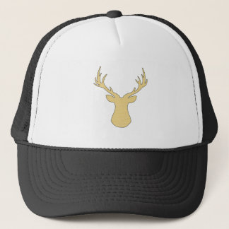 Deer - strips - beige and white. trucker hat