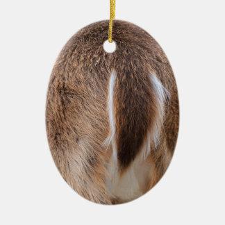 Deer Tail Ceramic Ornament