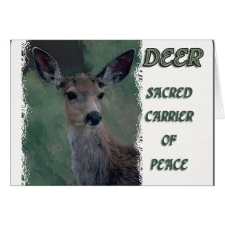 Deer TOTEM Sacred Carrier of Peace Card