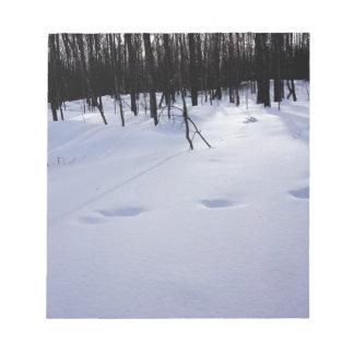 Deer tracks notepad