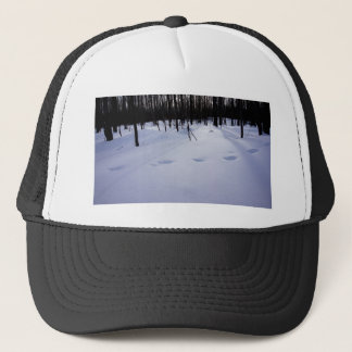 Deer tracks trucker hat