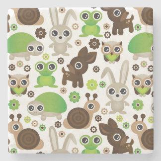 deer turtle bunny animal wallpaper stone coaster