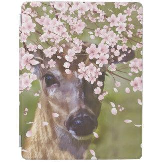 Deer Under Cherry Tree iPad Cover