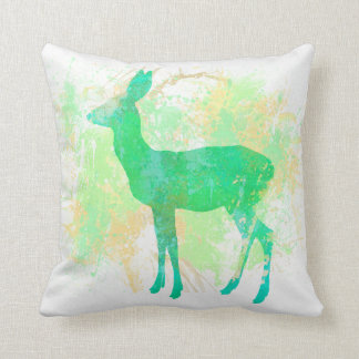Deer Watercolour Print Cushion