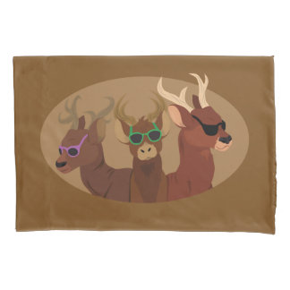 Deer Wearing Sunglasses Pillowcase