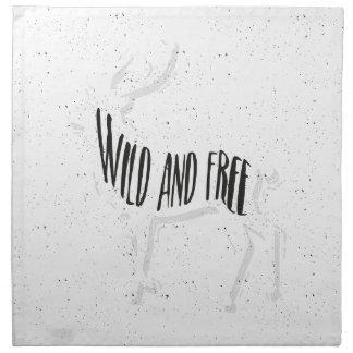Deer - Wild and free Napkin