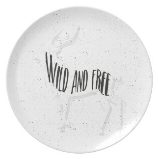 Deer - Wild and free Plate