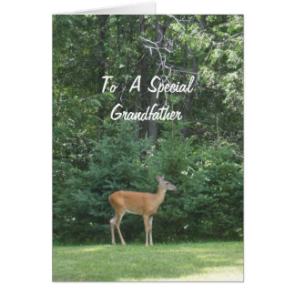 Deer Wishing Grandfather Happy Father's Day Card