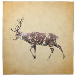 Deer with a Grungy Look Cloth Napkin