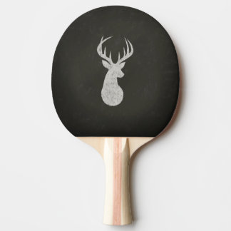 Deer With Antlers Chalk Drawing Ping-Pong Paddle