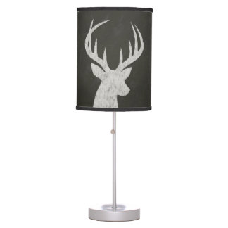 Deer With Antlers Chalk Drawing Table Lamps