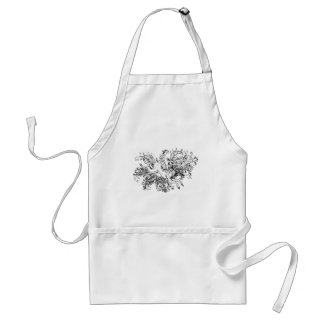 Deer with Floral Standard Apron