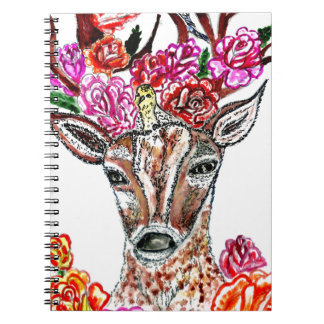 Deer with Flowers2 Notebook