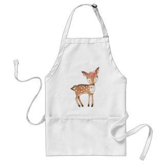 deer with flowers 0 handpainted print gifts standard apron