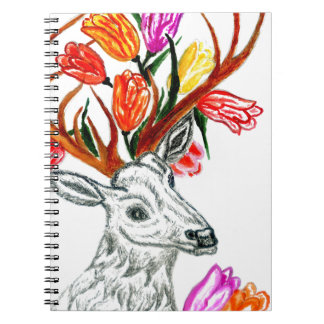 Deer with Flowers Notebook
