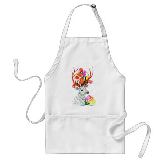 Deer with Flowers Standard Apron