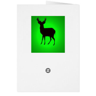 deer with green background image on greetngs card