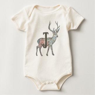 Deer with Letter J Baby Bodysuit