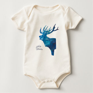 Deer with merry Christmas Baby Bodysuit