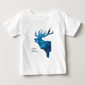 Deer with merry Christmas Baby T-Shirt